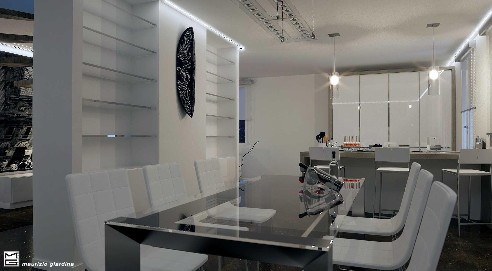 Appartamento a milano concept house design for Design render milano